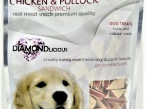 Λιχουδιά Σκύλου Camelot Chicken & Pollock Sandwich 100gr