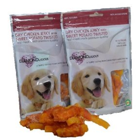 Λιχουδιά Σκύλου Camelot Dry Chicken Jerky & sweet potato 100gr